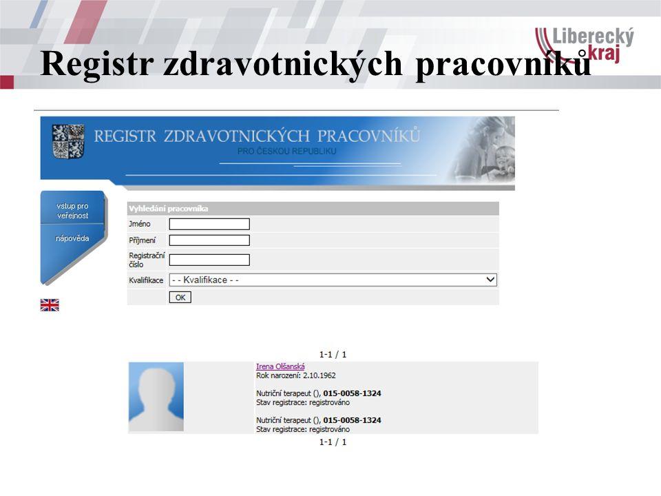 Registr zdravotnických pracovníků