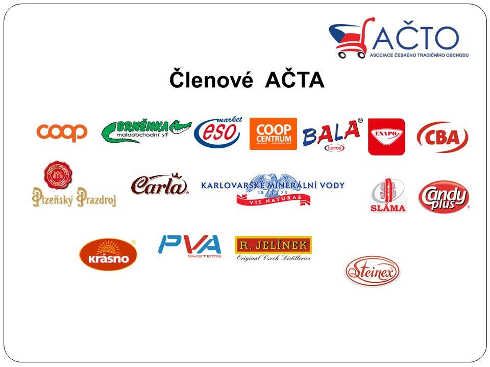 Hlavním posláním A Č TA je hájit zájmy č eských obchodník ů A Č TO reprezentuje 7000 potraviná ř ských obchod ů s 25% podílem na trhu.