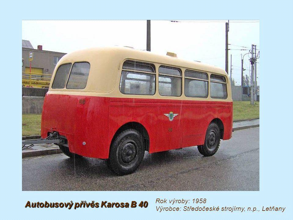 Autobusový přívěs Sodomka D 4 1947