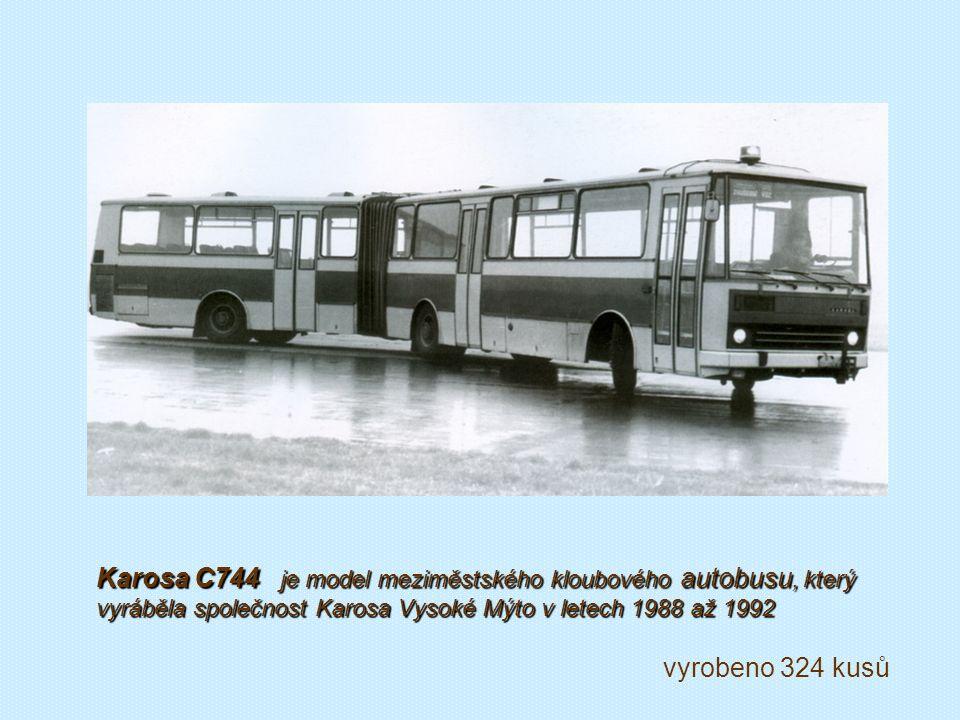 Prototyp kloubového autobusu Š 706 RTO-K z produkce Karosy Vysoké Mýto okolo roku 1960...