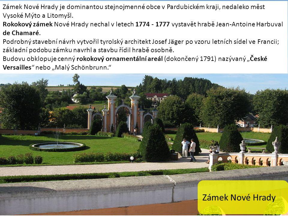 Zámek Nové Hrady je dominantou stejnojmenné obce v Pardubickém kraji, nedaleko měst Vysoké Mýto a Litomyšl.
