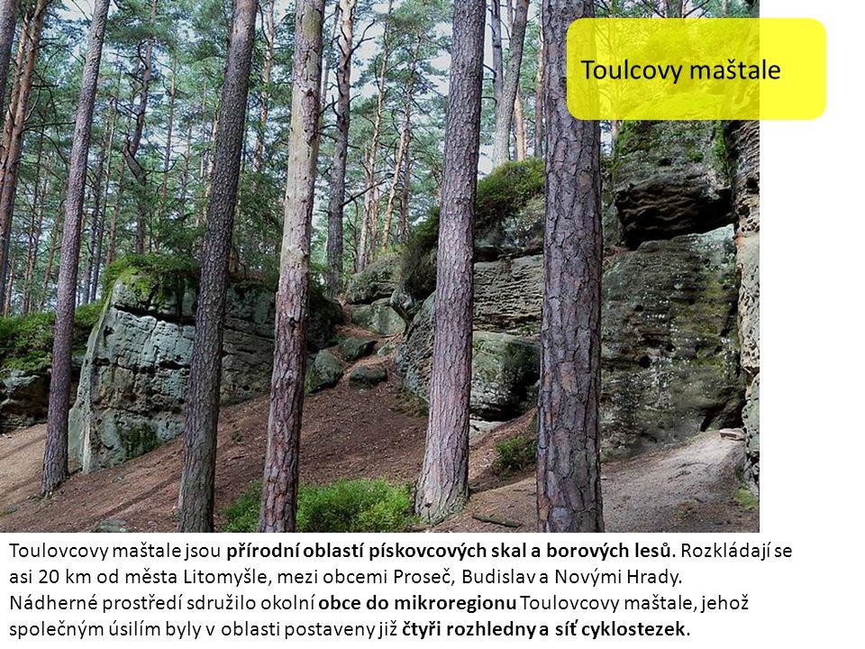 Toulcovy maštale Toulovcovy maštale jsou přírodní oblastí pískovcových skal a borových lesů.
