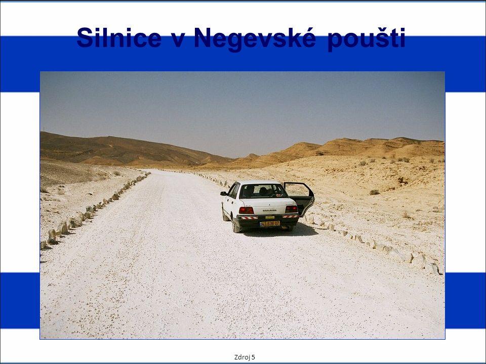 Silnice v Negevské poušti Zdroj 5