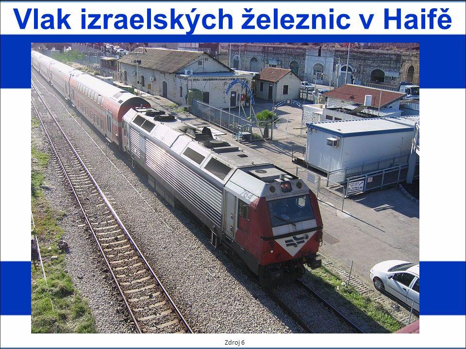 Vlak izraelských železnic v Haifě Zdroj 6