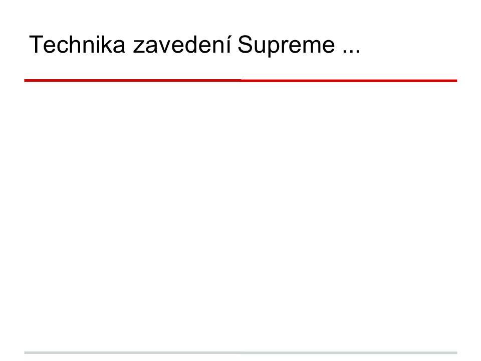 Technika zavedení Supreme...