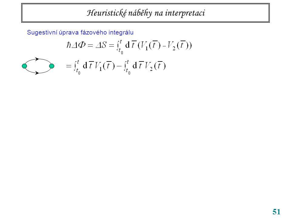 51 Tři body k zapamatování bezsilové působení na dálku potenciály samy, ne jen pole (tedy jejich derivace) vedou k pozorovatelným efektům příslušné kv