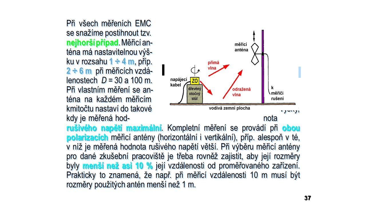 rušivého napětí maximálníobou polarizacích menší než asi 10 % Při všech měřeních EMC se snažíme postihnout tzv.