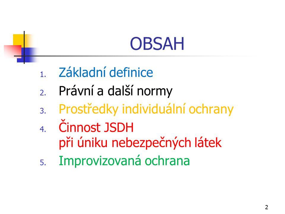 OBSAH 1. Základní definice 2. Právní a další normy 3.