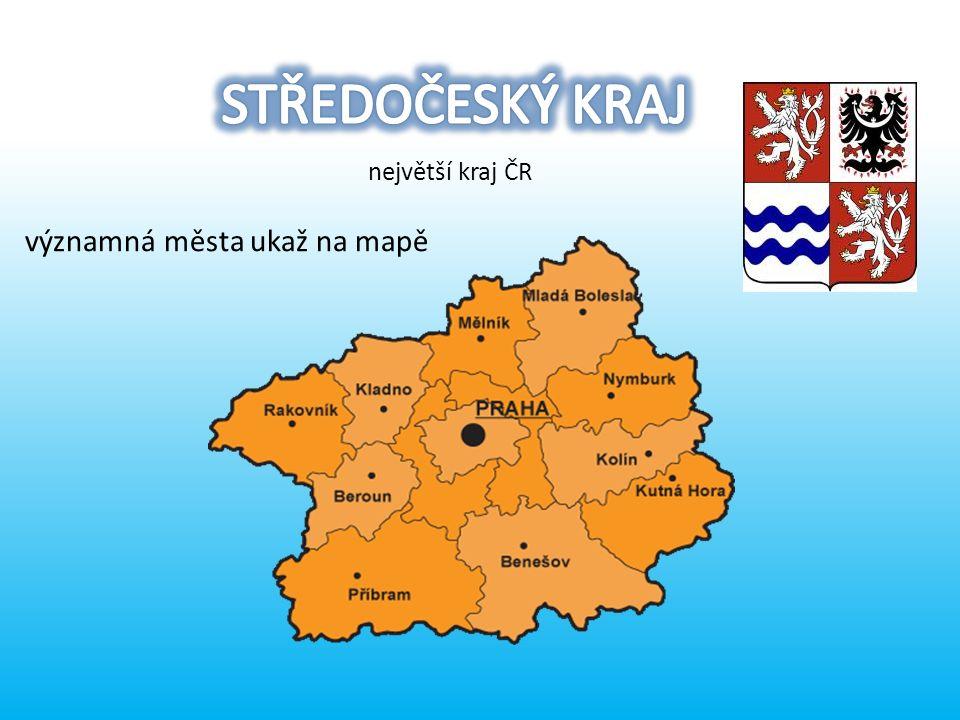 významná města ukaž na mapě největší kraj ČR