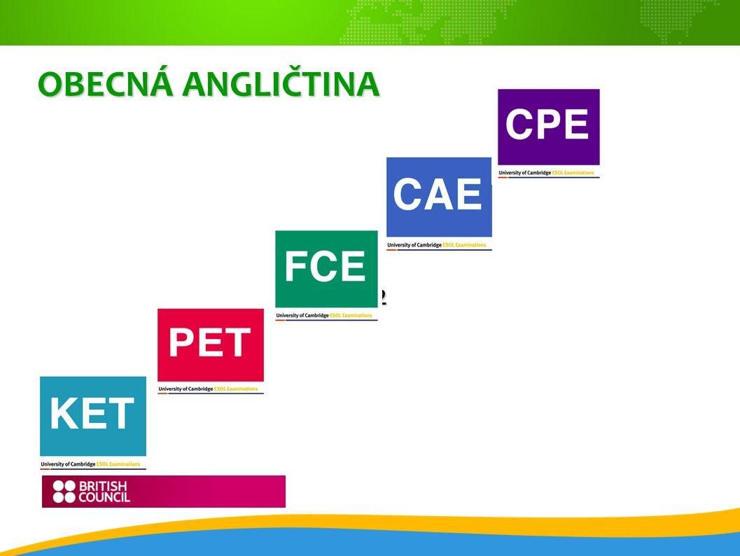OBCHODNÍ ANGLIČTINA BEC (The Business English Certificate) BEC Preliminary – B1 BEC Preliminary – B1 BEC Vantage – B2 BEC Vantage – B2 BEC Higher - C1 BEC Higher - C1