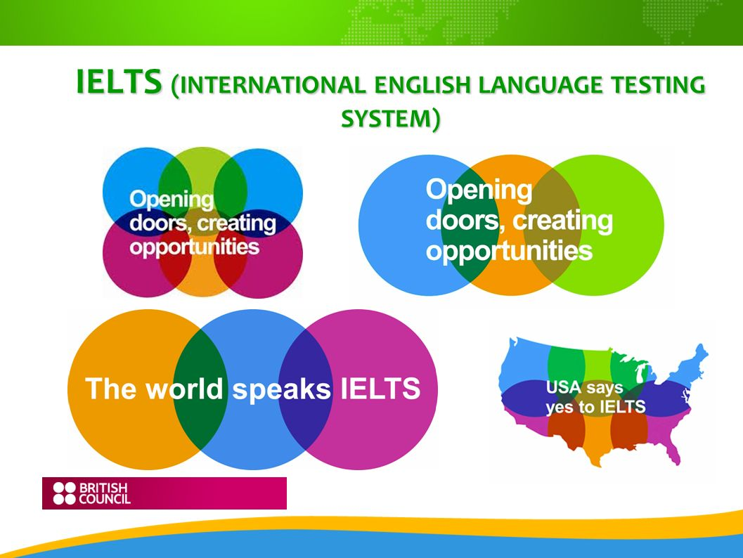 IELTS (INTERNATIONAL ENGLISH LANGUAGE TESTING SYSTEM)