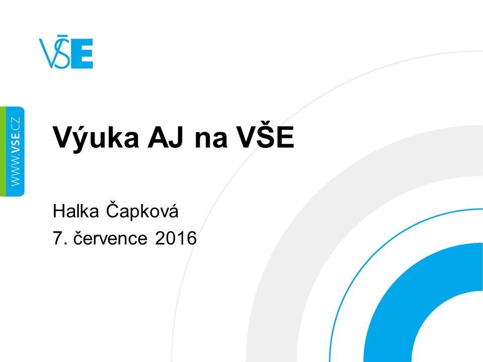 Výuka AJ na VŠE Halka Čapková 7. července 2016
