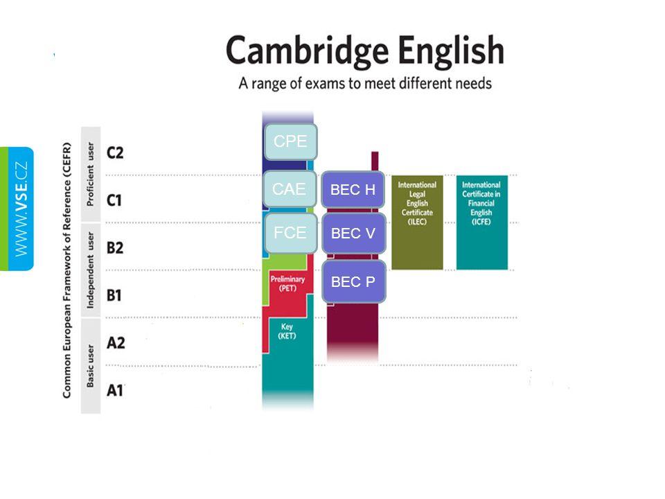 Zkoušky Cambridge English CEMS Česká státní správa Univerzity po celém světě
