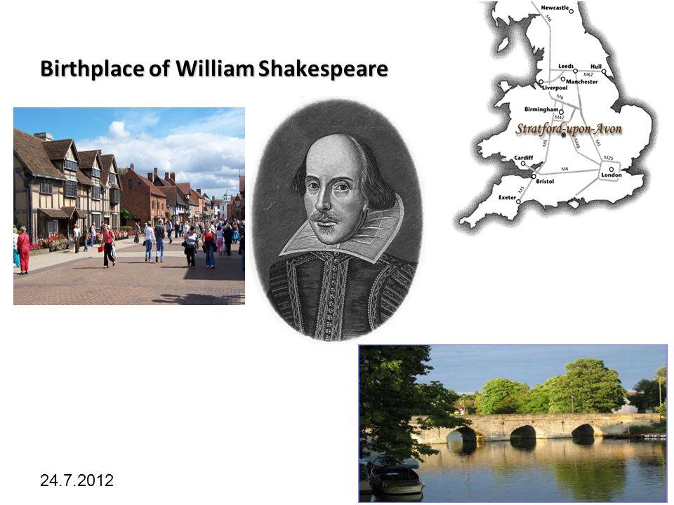 Kliknutím lze upravit styl předlohy. 24.7.2012 Birthplace of William Shakespeare