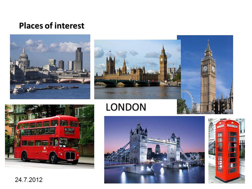 Kliknutím lze upravit styl předlohy. 24.7.2012 Places of interest LONDON