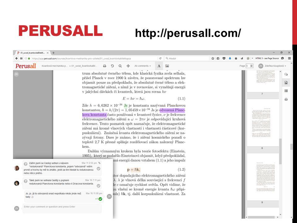 PERUSALL http://perusall.com/