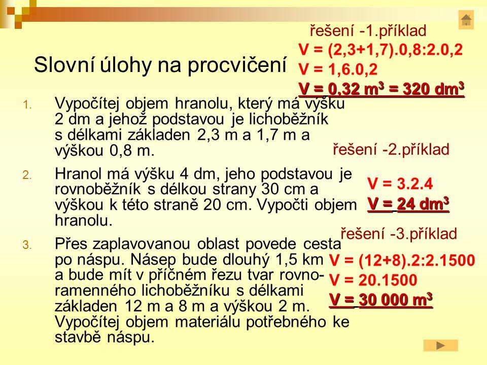 Slovní úlohy na procvičení 1.
