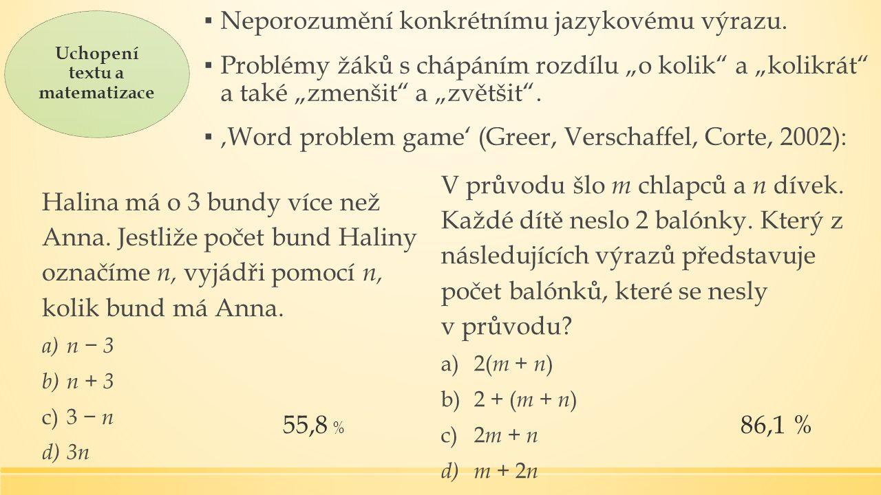 Halina má o 3 bundy více než Anna.