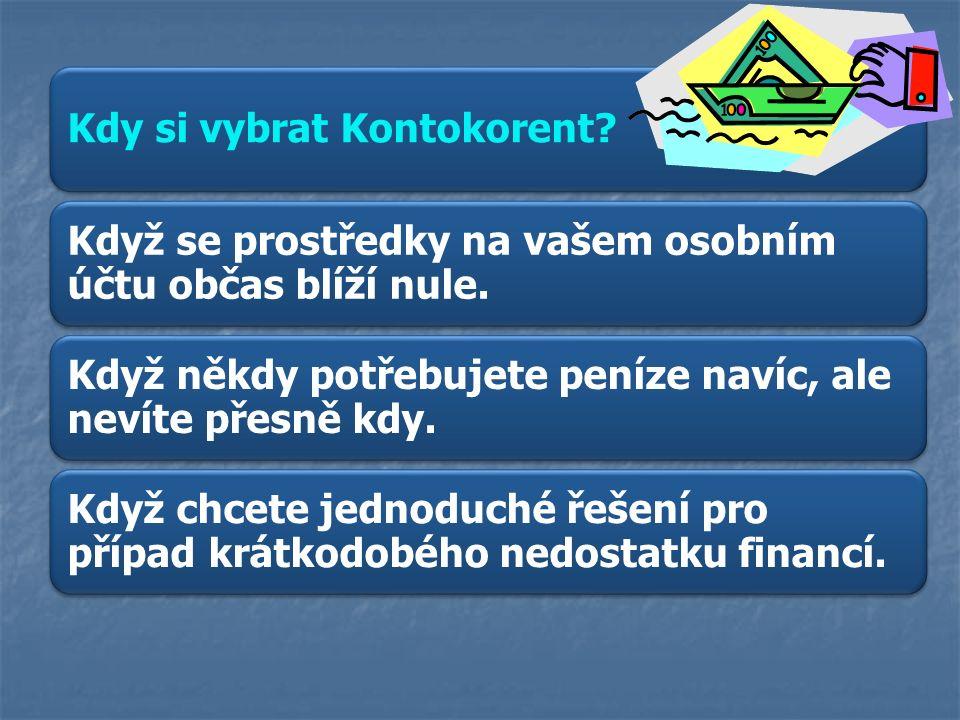 Příklad nabídky z internetu: Jak vám kontokorent ulehčí život: http://www.csas.cz/banka/nav/osobni- finance/kontokorent/o-produktu-d00018815 Určete úrokovou míru z tohoto příkladu: Částka 5 000 Kč Úrok za 5 dní 13Kč 360 : 5 = 72 72 * 13 = 936 Kč za rok 936 : 50 = 18,72% Roční úroková míra u této nabídky je 18,72%.