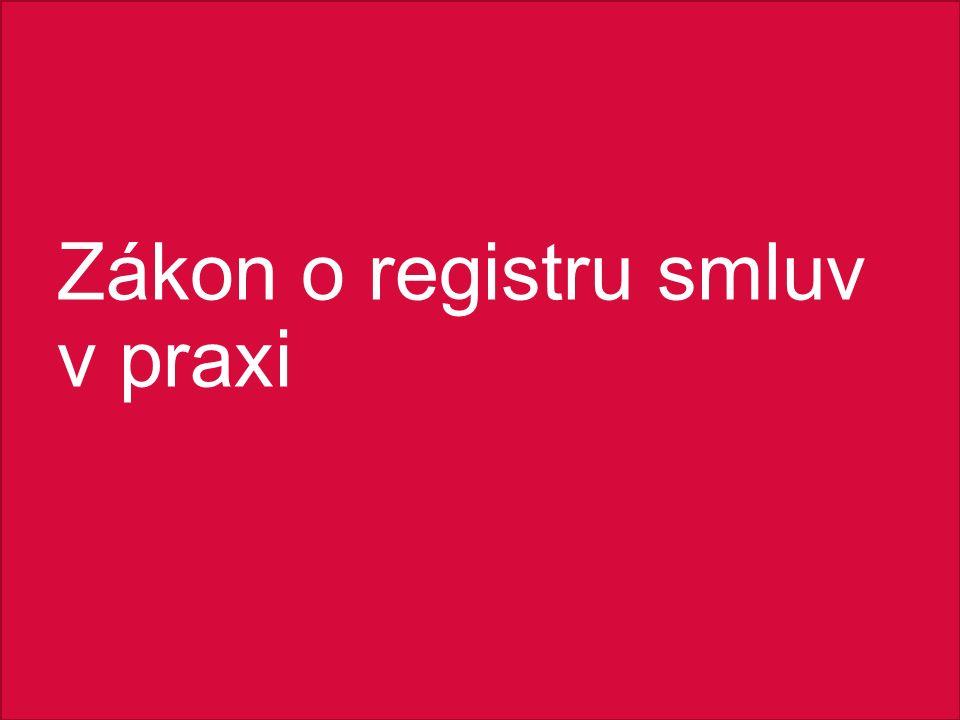 Zákon o registru smluv v praxi