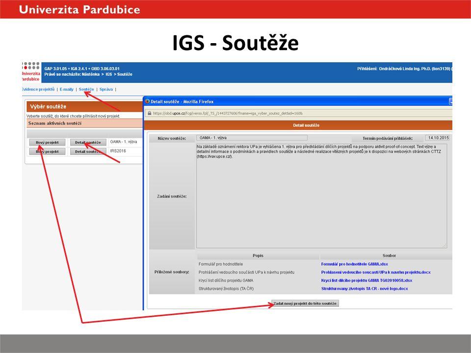 IGS - Soutěže