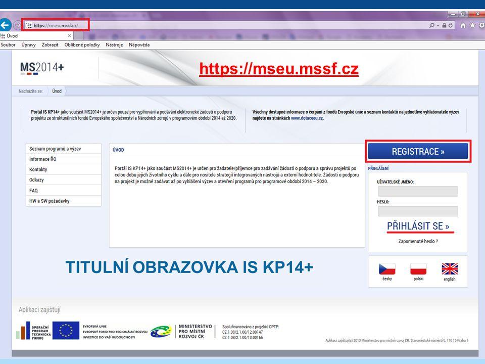 TITULNÍ OBRAZOVKA IS KP14+ 4 https://mseu.mssf.cz