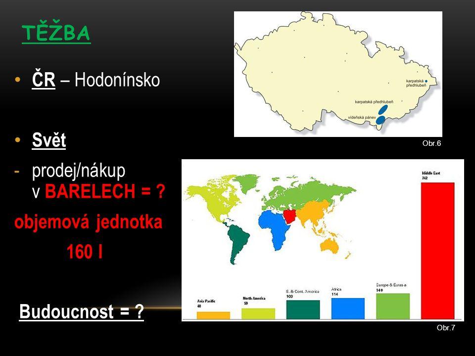 ČR – Hodonínsko Svět -prodej/nákup v BARELECH = . objemová jednotka 160 l Budoucnost = .