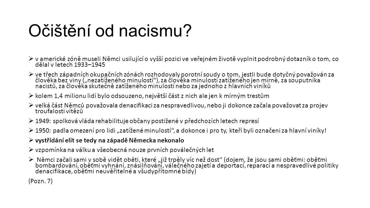 Očištění od nacismu.