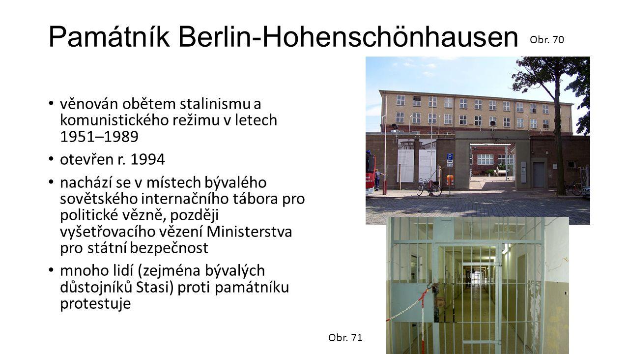 Památník Berlin-Hohenschönhausen věnován obětem stalinismu a komunistického režimu v letech 1951–1989 otevřen r. 1994 nachází se v místech bývalého so