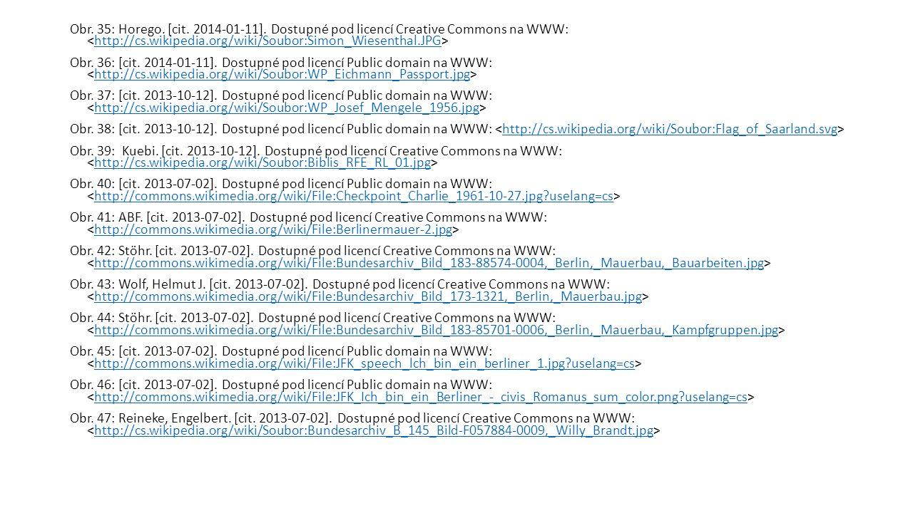Obr. 35: Horego. [cit. 2014-01-11]. Dostupné pod licencí Creative Commons na WWW: http://cs.wikipedia.org/wiki/Soubor:Simon_Wiesenthal.JPG Obr. 36: [c