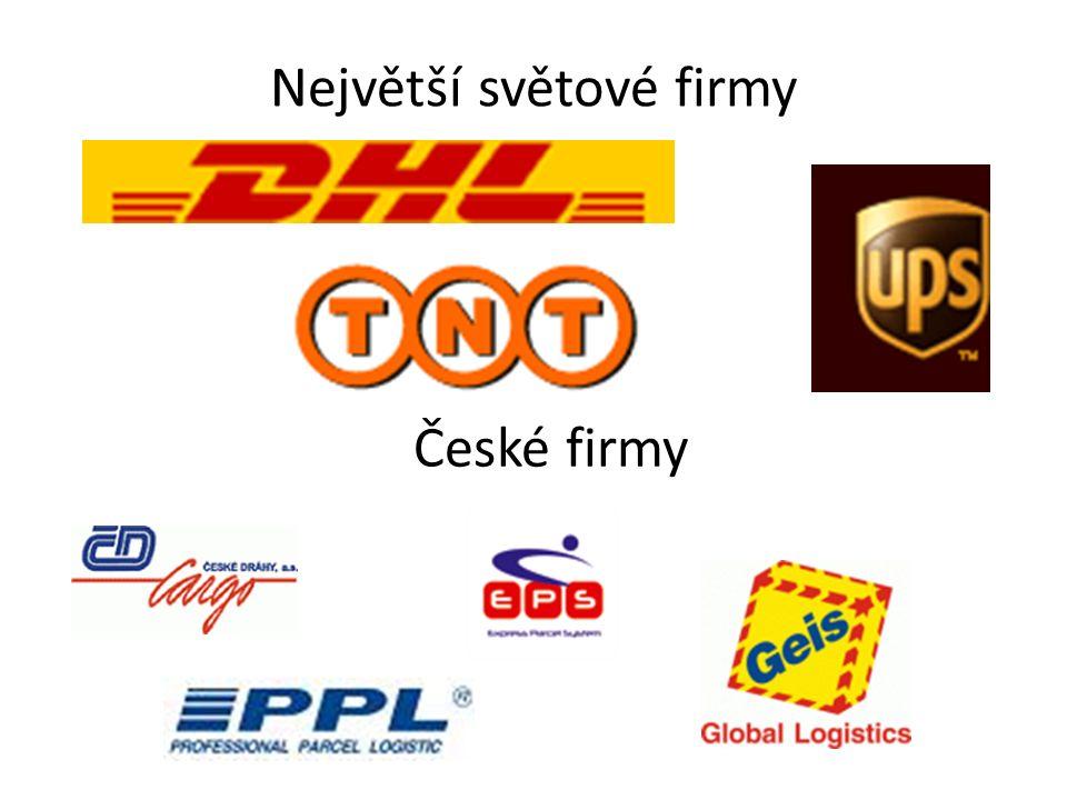 Největší světové firmy České firmy