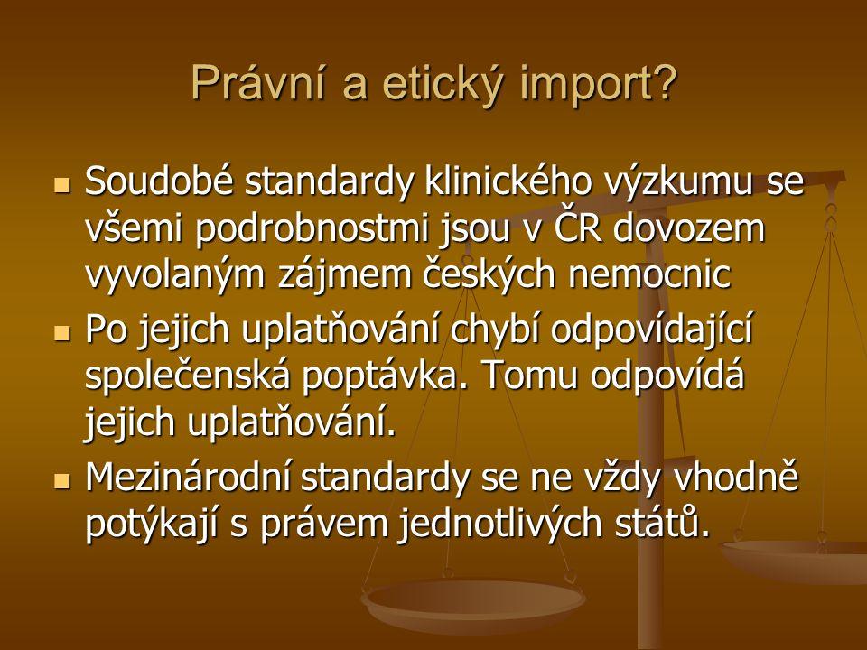 Právní a etický import.