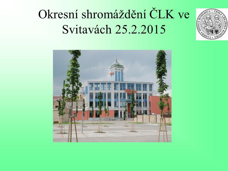 Okresní shromáždění ČLK ve Svitavách 25.2.2015