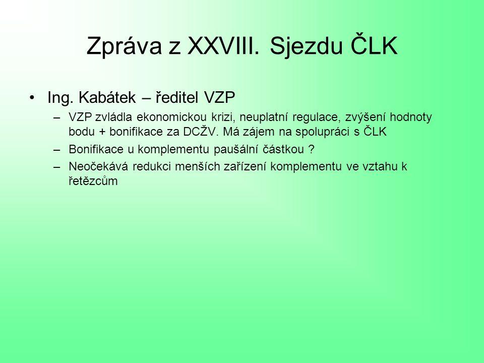Zpráva z XXVIII.Sjezdu ČLK Ing.