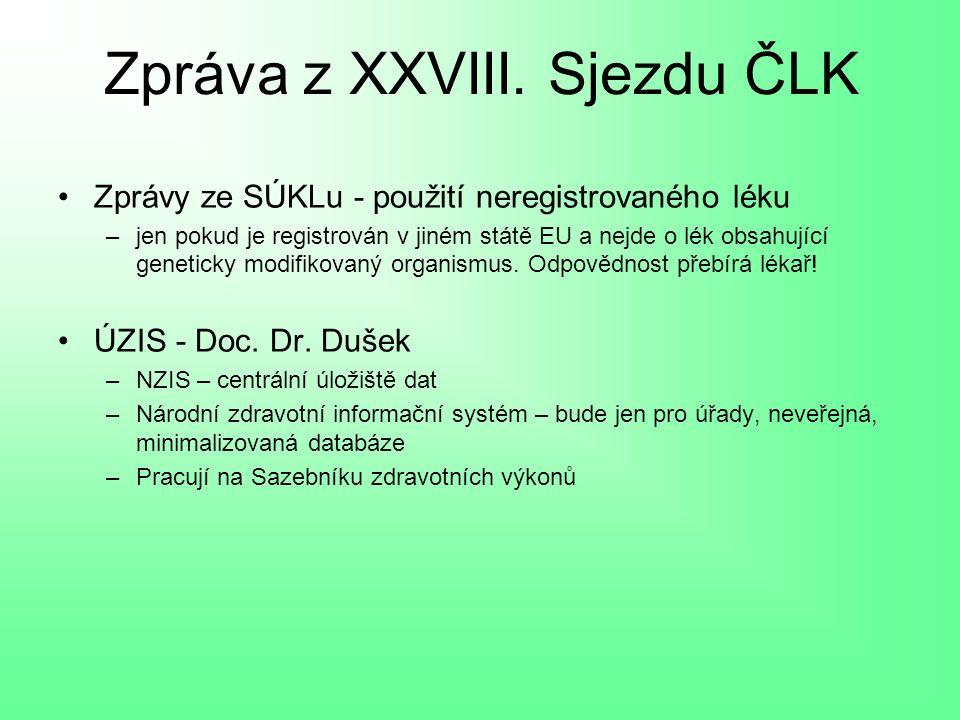 Zpráva z XXVIII.