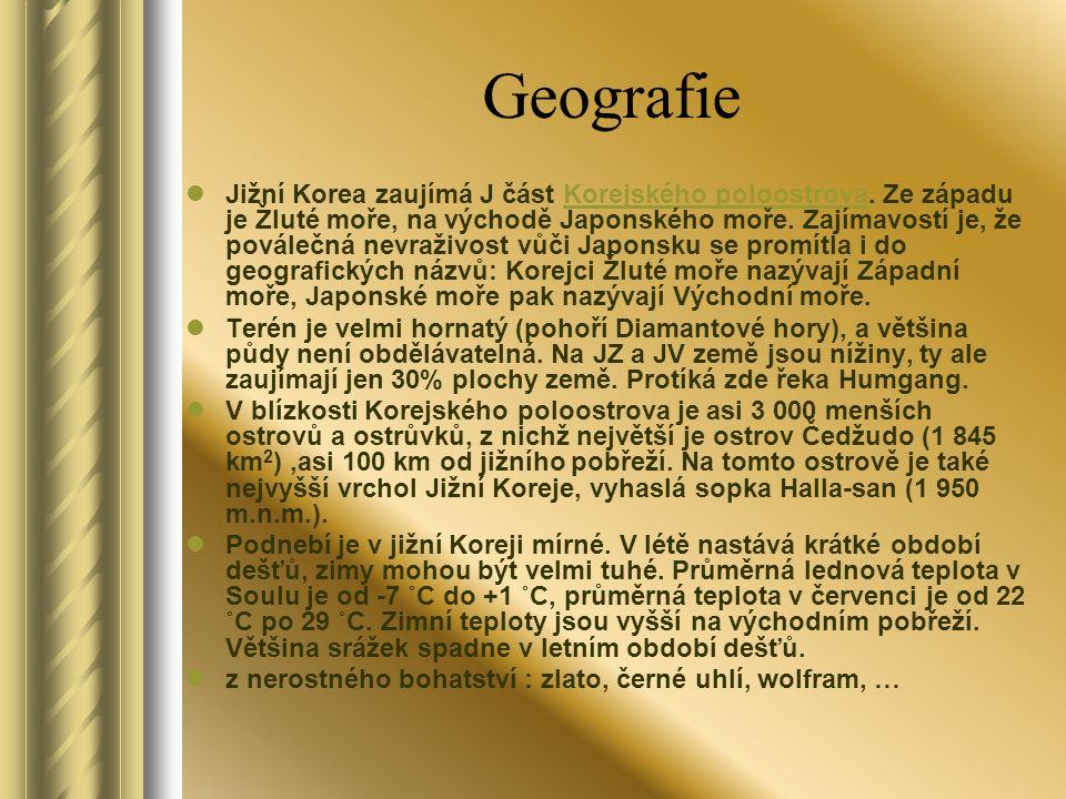 Geografie Jižní Korea zaujímá J část Korejského poloostrova.