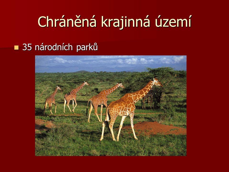 Chráněná krajinná území 35 národních parků 35 národních parků