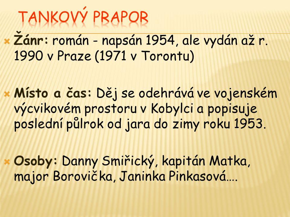  Žánr: román - napsán 1954, ale vydán až r.