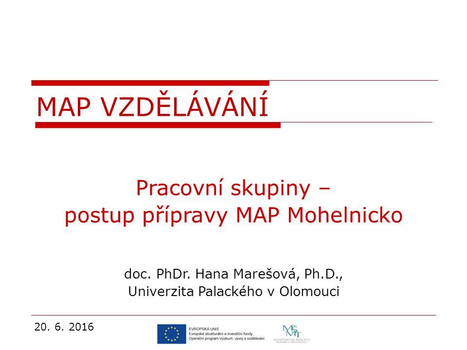 Pracovní skupiny – postup přípravy MAP Mohelnicko doc.