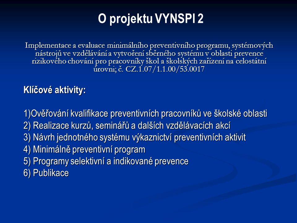 Minimální preventivní programy Cíle: 1.