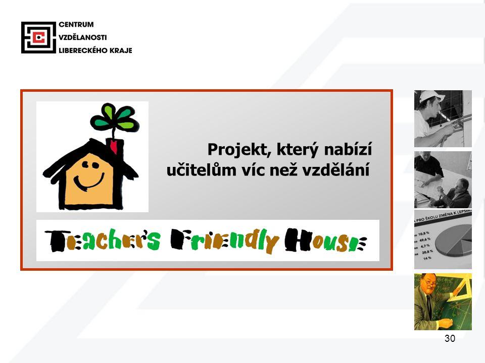 30 Projekt, který nabízí učitelům víc než vzdělání