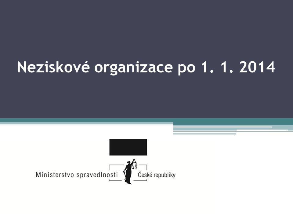Neziskové organizace po 1. 1. 2014