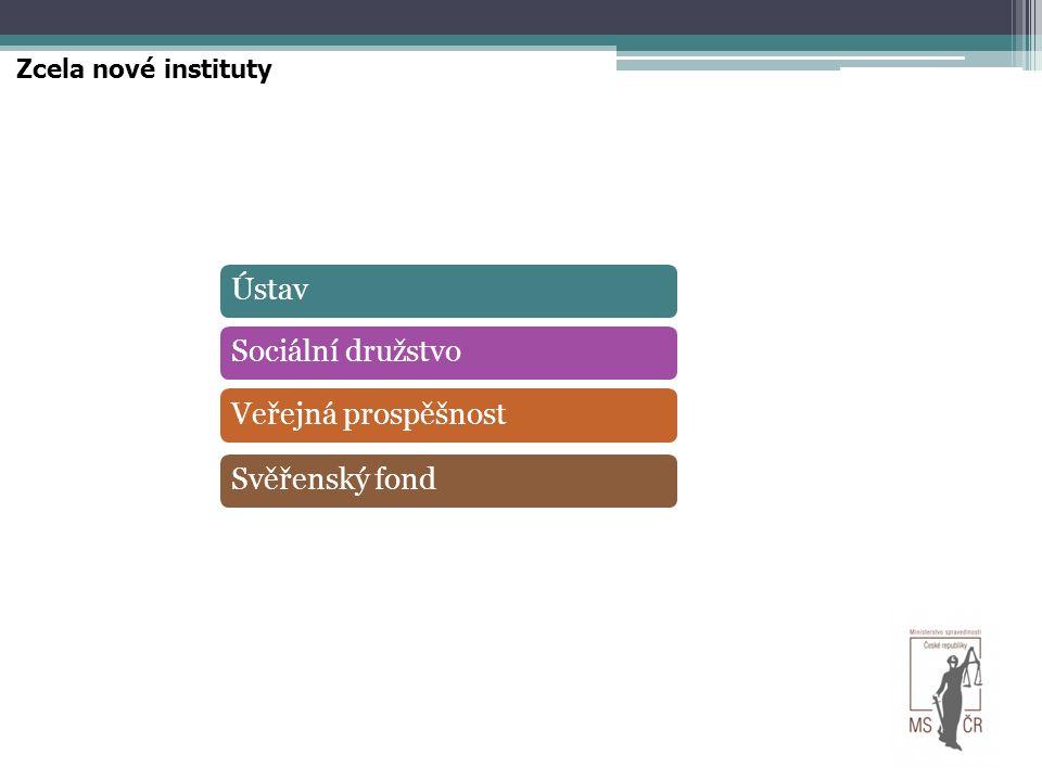 Zcela nové instituty ÚstavSociální družstvoVeřejná prospěšnostSvěřenský fond
