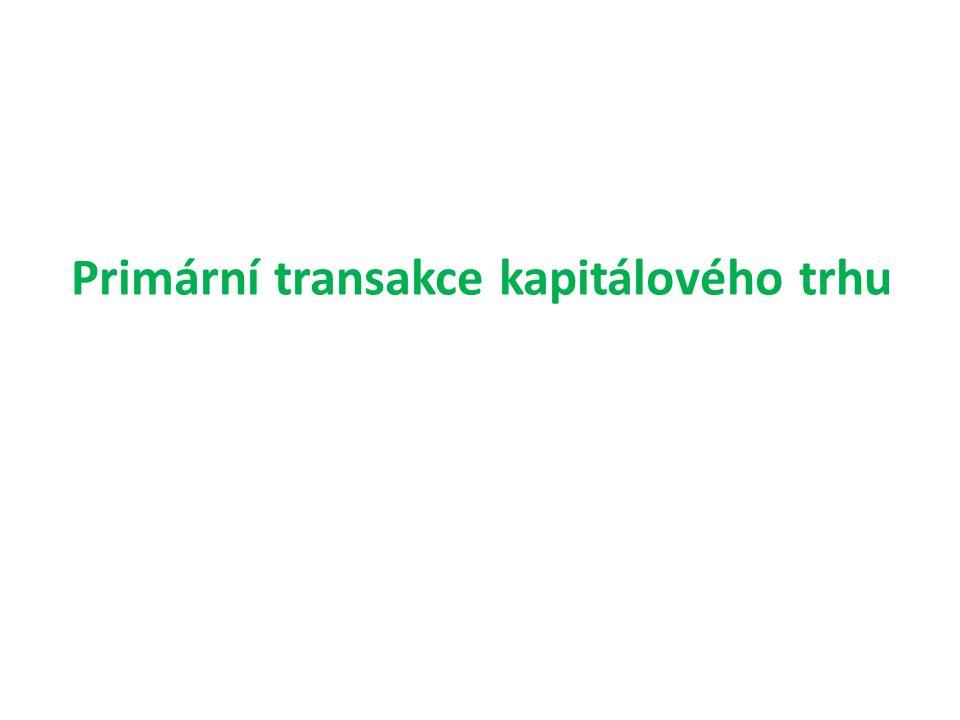 Primární transakce kapitálového trhu