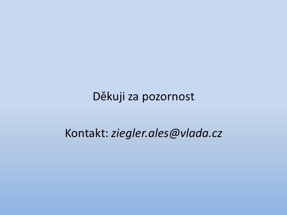 Děkuji za pozornost Kontakt: ziegler.ales@vlada.cz