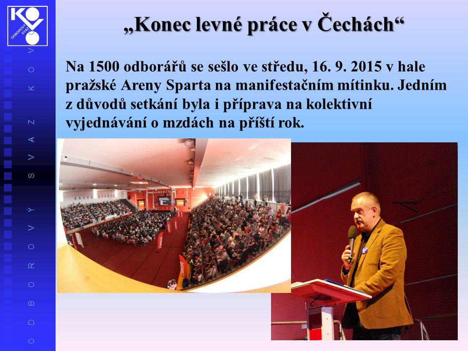 """O D B O R O V Ý S V A Z K O V O """"Konec levné práce v Čechách Na 1500 odborářů se sešlo ve středu, 16."""
