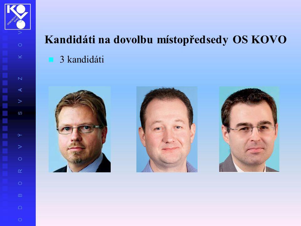 Kandidáti na dovolbu místopředsedy OS KOVO 3 kandidáti