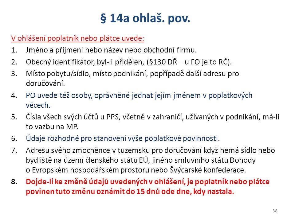 § 14a ohlaš. pov.