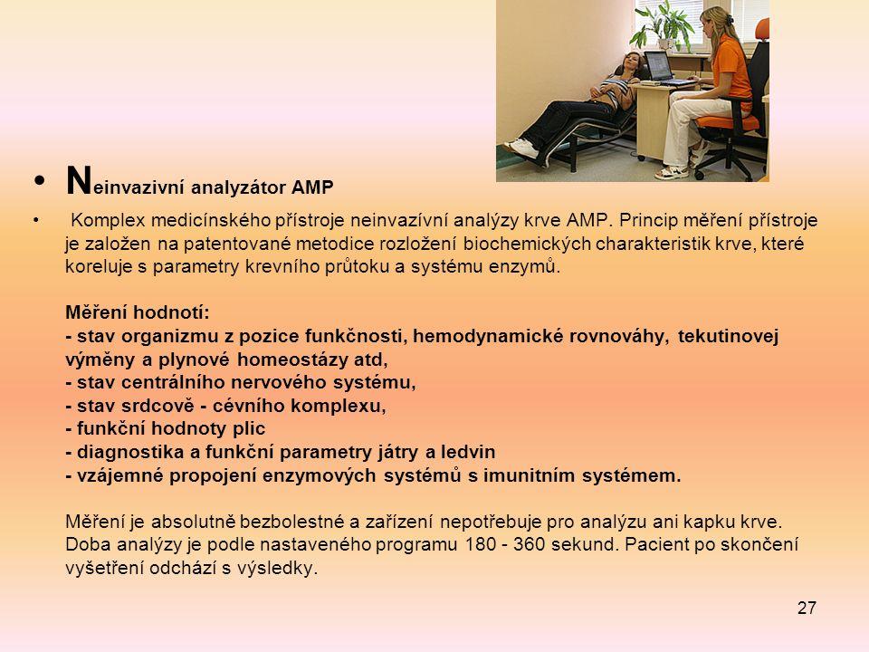 N einvazivní analyzátor AMP Komplex medicínského přístroje neinvazívní analýzy krve AMP.