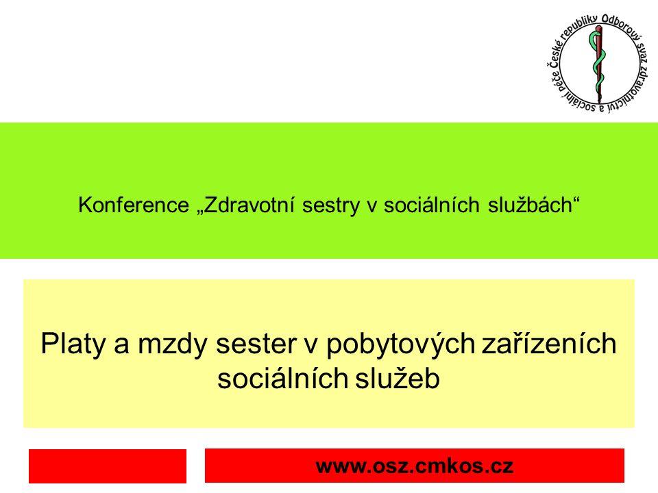 """Konference """"Zdravotní sestry v sociálních službách Platy a mzdy sester v pobytových zařízeních sociálních služeb pondělí, 26."""